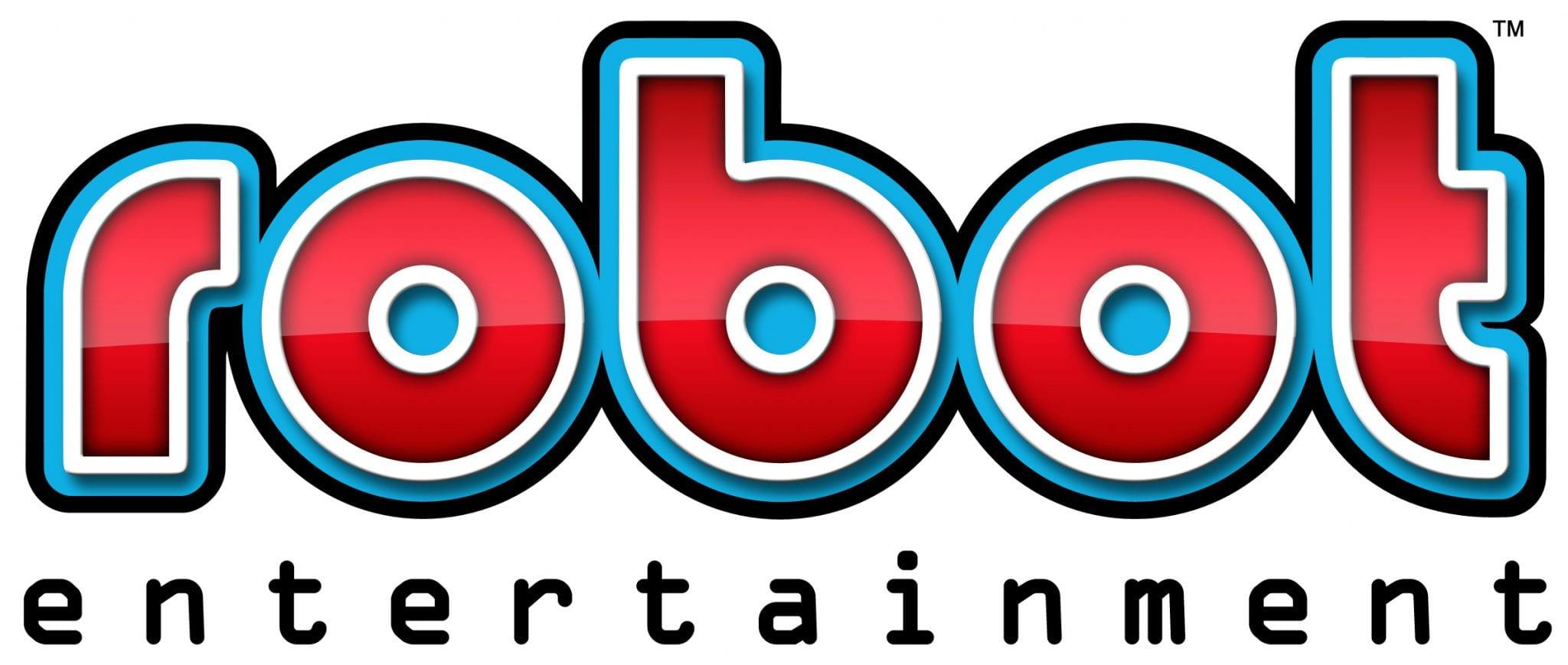 Robot Entertainment Logo On White Print