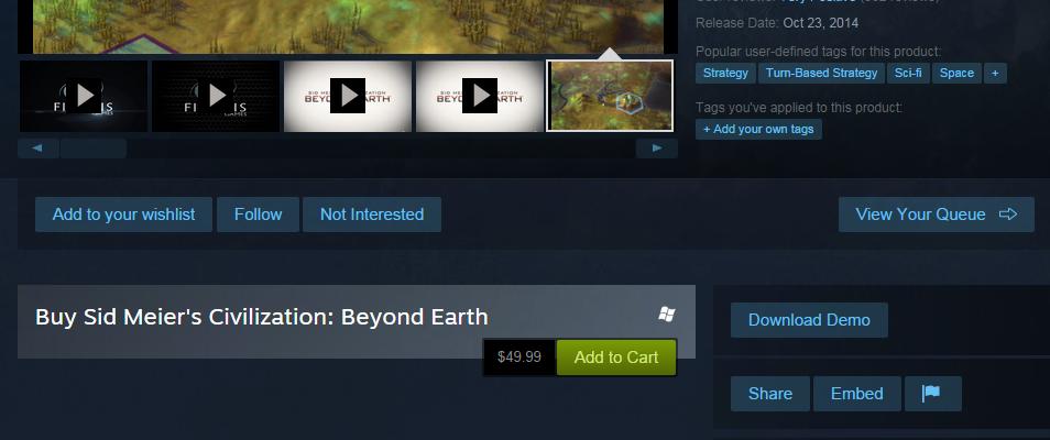 civilization beyond earth demo