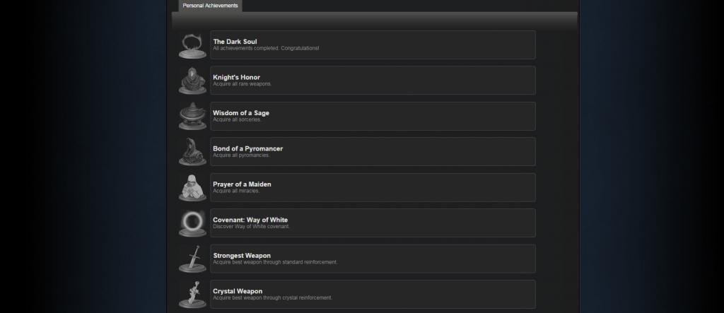 dark souls steamworks achievements