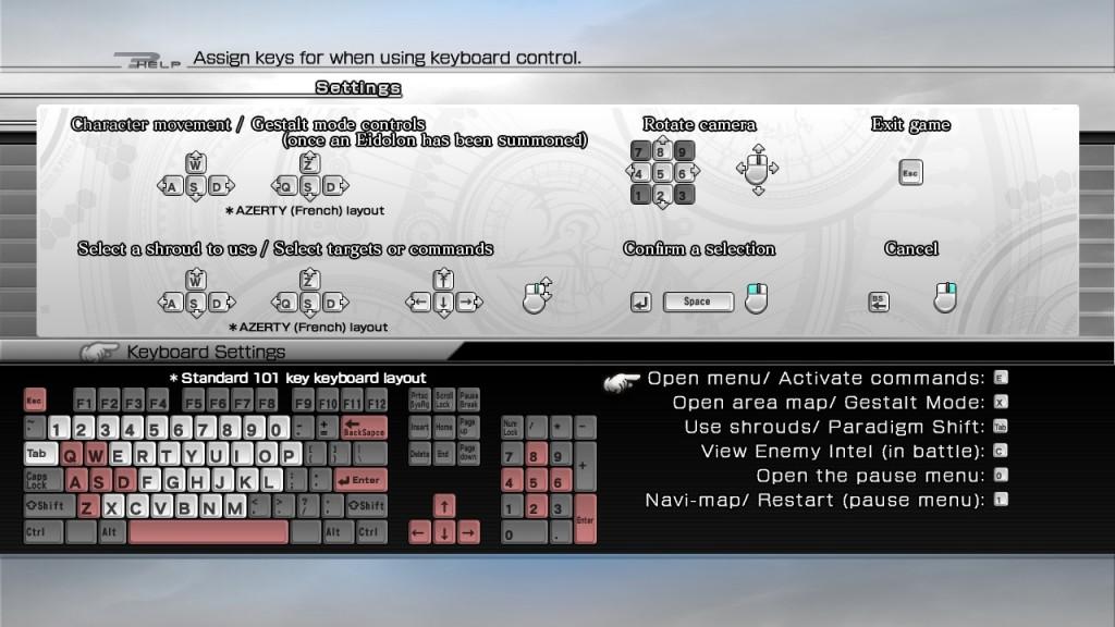 final fantasy xiii keyboard