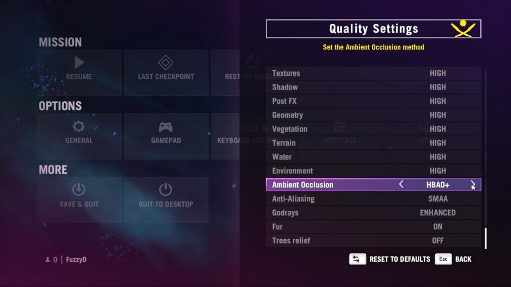 Far Cry 4 settings