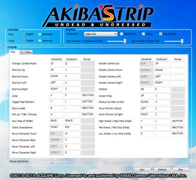 Akiba's Trip Settings