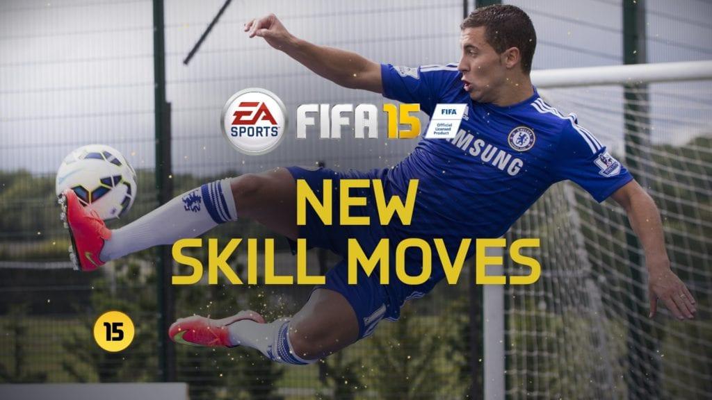 FIFA 15 and Eden Hazard show off skillful ball manipulation