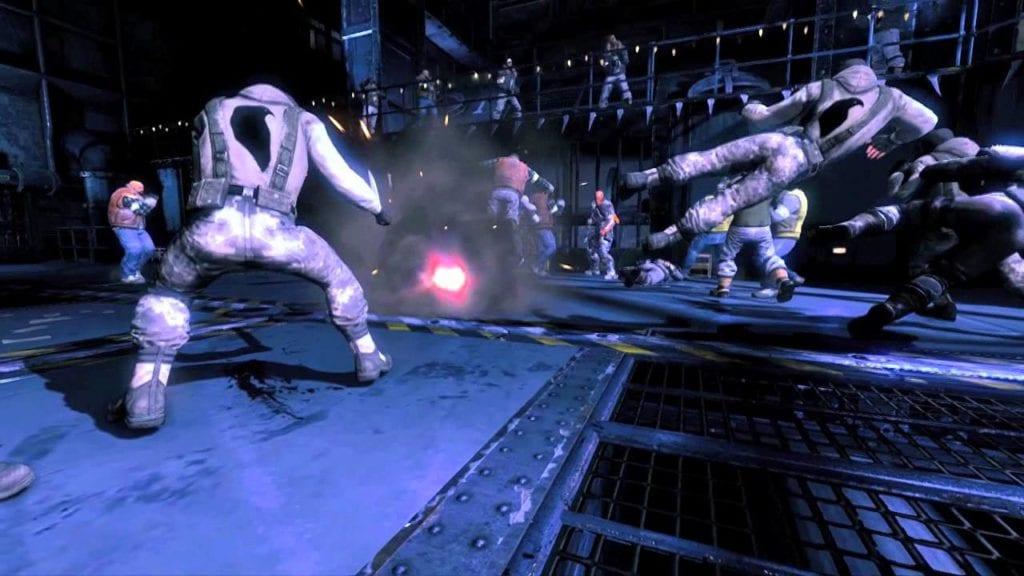 Fight bad men in Batman: Arkham Origins Deathstroke Challenge Pack video