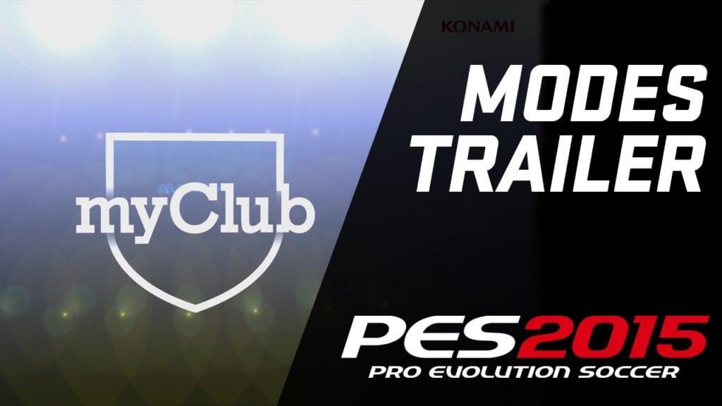 PES 2015's modes trailer shows you myClub, tactics, balls