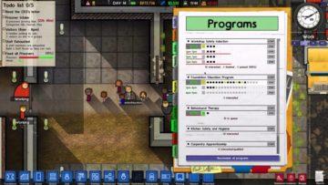 Prison Architect Alpha 18 offers reform programmes