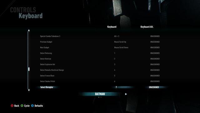 Batman Arkham Knight - controls