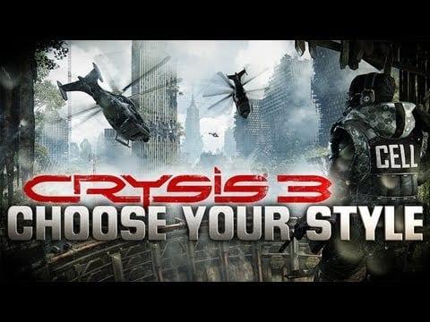 Crysis 3's interactive trailer gives you a choice