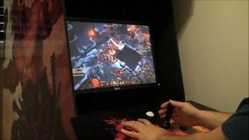Play Diablo3 arcade style with a Diablo 3 arcade cabinet