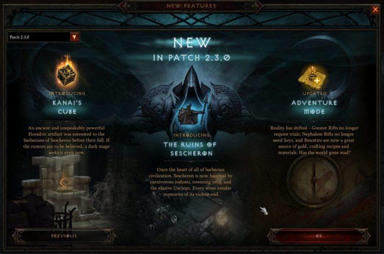 Diablo 3 patch 2.3.0 now live on PTR