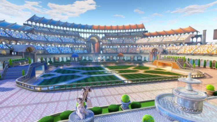 Rocket League free map DLC shows the Utopia Coliseum