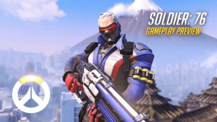 Soldier: 76 rifles through enemies in latest Overwatch gameplay