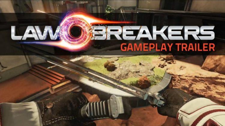 LawBreakers gameplay trailer shows low-gravity battling