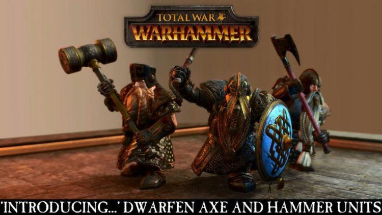 Total War: Warhammer Dwarfen axe and hammer units introduced