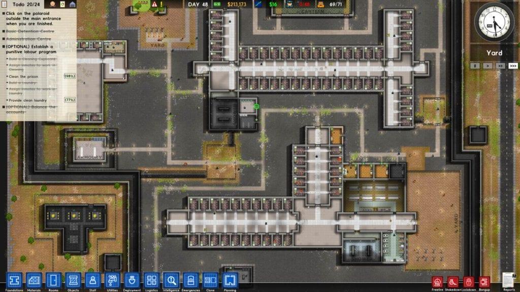 Prison architect launch impressions pc invasion for Jail architect