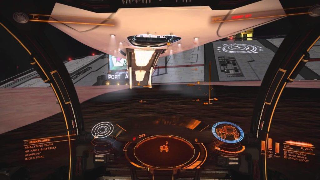 Elite: Dangerous video goes inside a planetary Starport