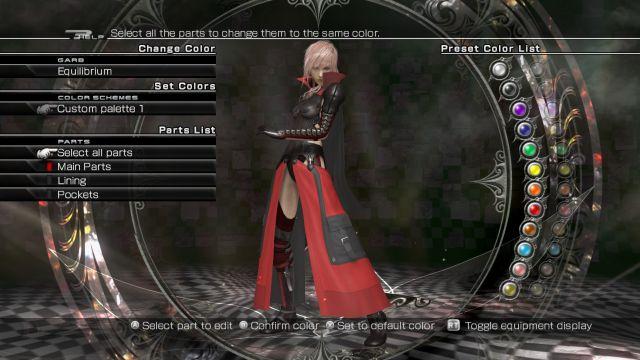 Lightning Returns Final Fantasy 13 - customisation