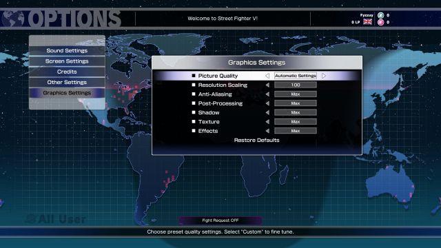 Street Fighter V - settings