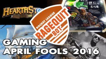 Gaming April Fools' Day 2016