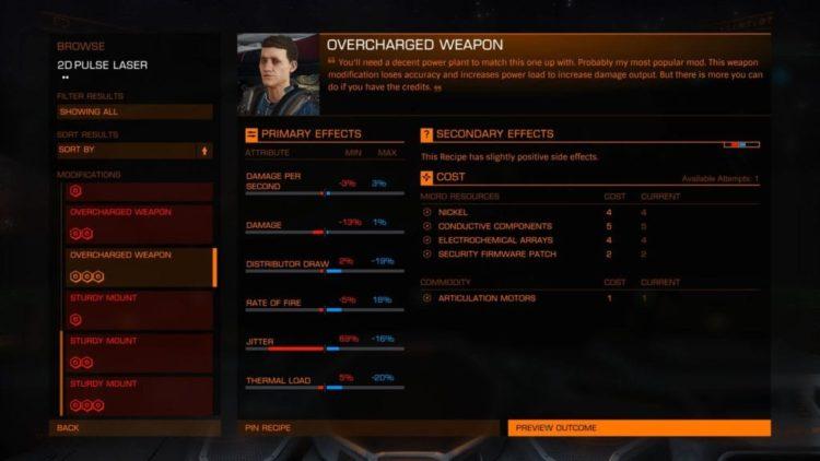 Elite: Dangerous Engineers 2.1 update now live