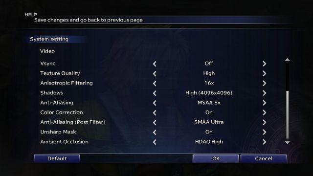 Final Fantasy X - options 2