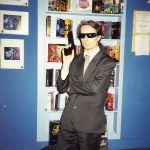 Hugh Hancock doing some nineties cosplay.