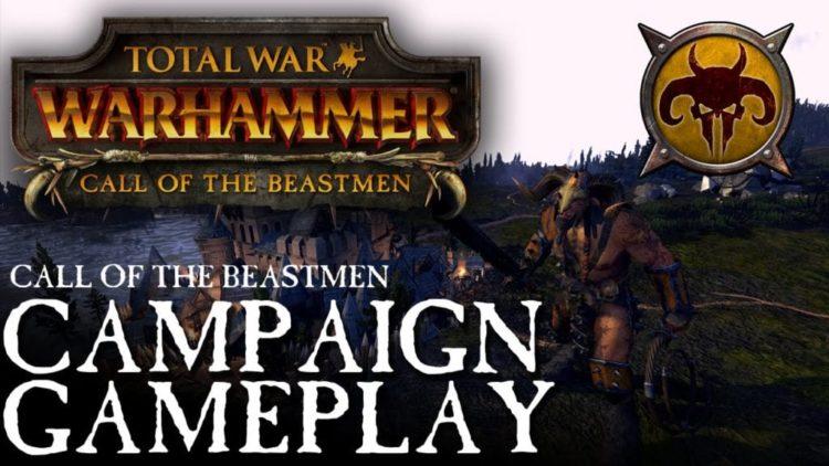 Total War: Warhammer video shows Beastmen grand campaign gameplay