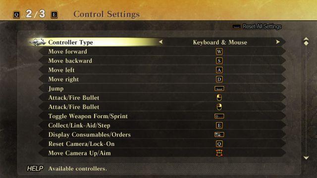God Eater 2 - Controls 1