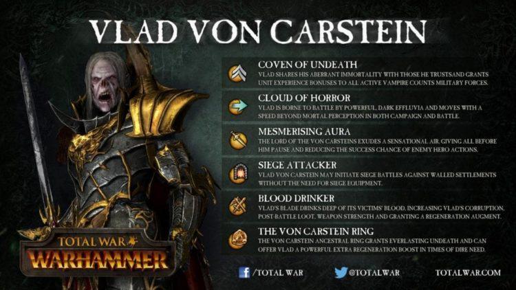 Total War: Warhammer – Vlad von Carstein ability details