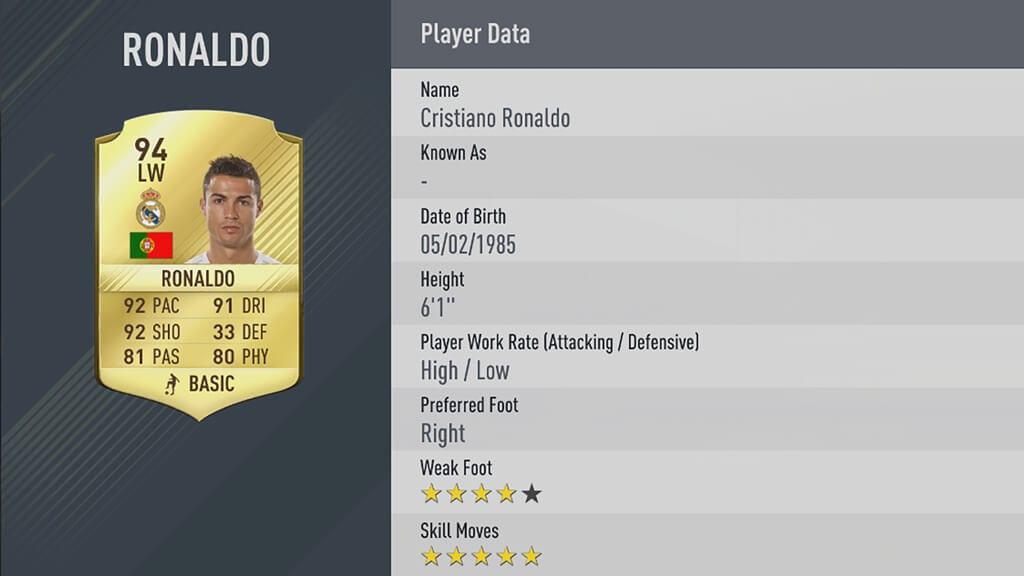 FIFA 17 Ultimate Team Ronaldo