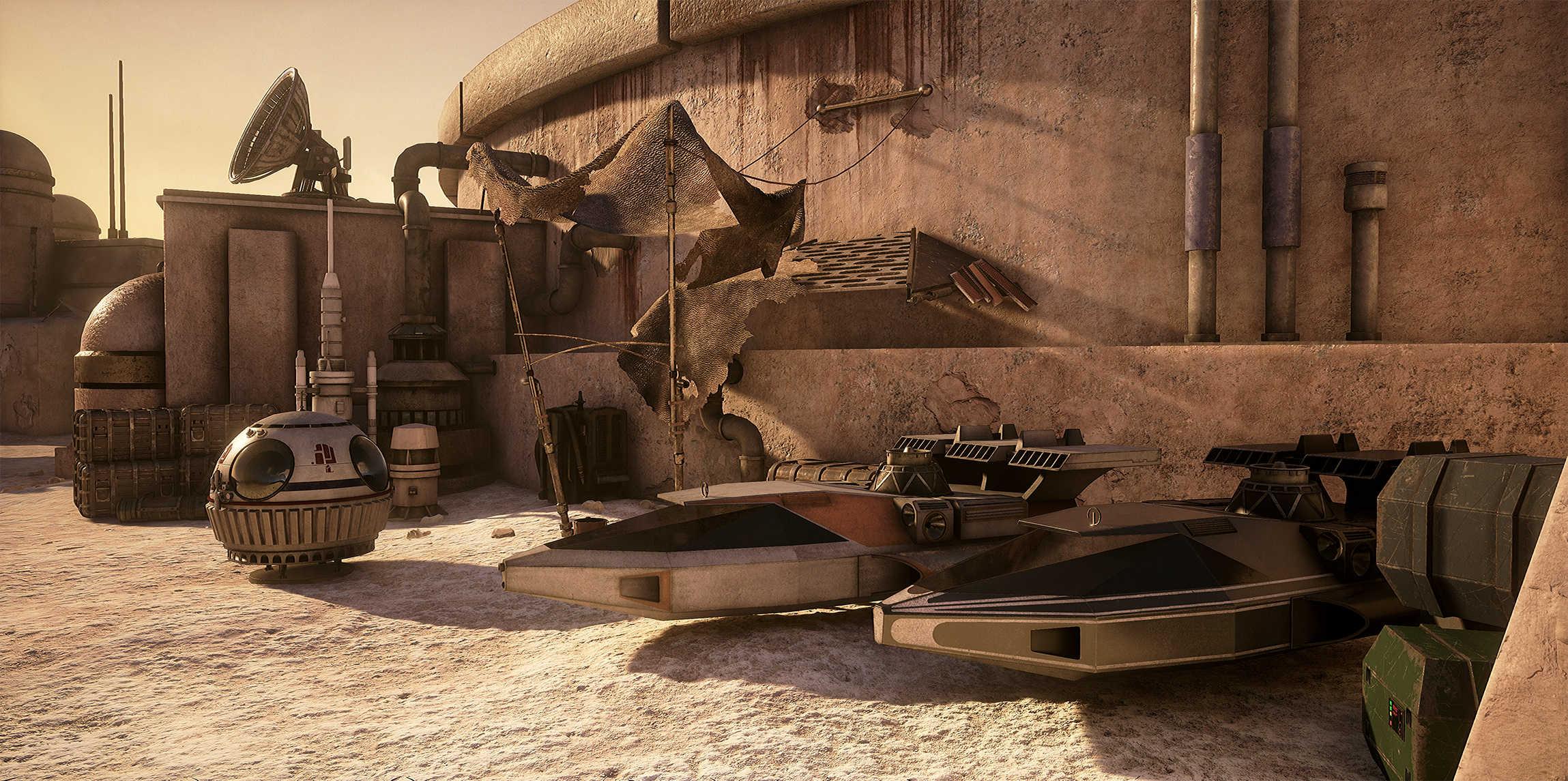 Obsidian devs recreate Star Wars Mos Eisley in Unreal Engine 4