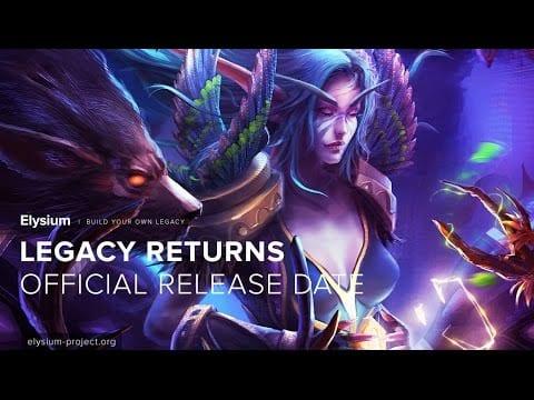 Elysium Project announces Nostalrius release for 17 Dec
