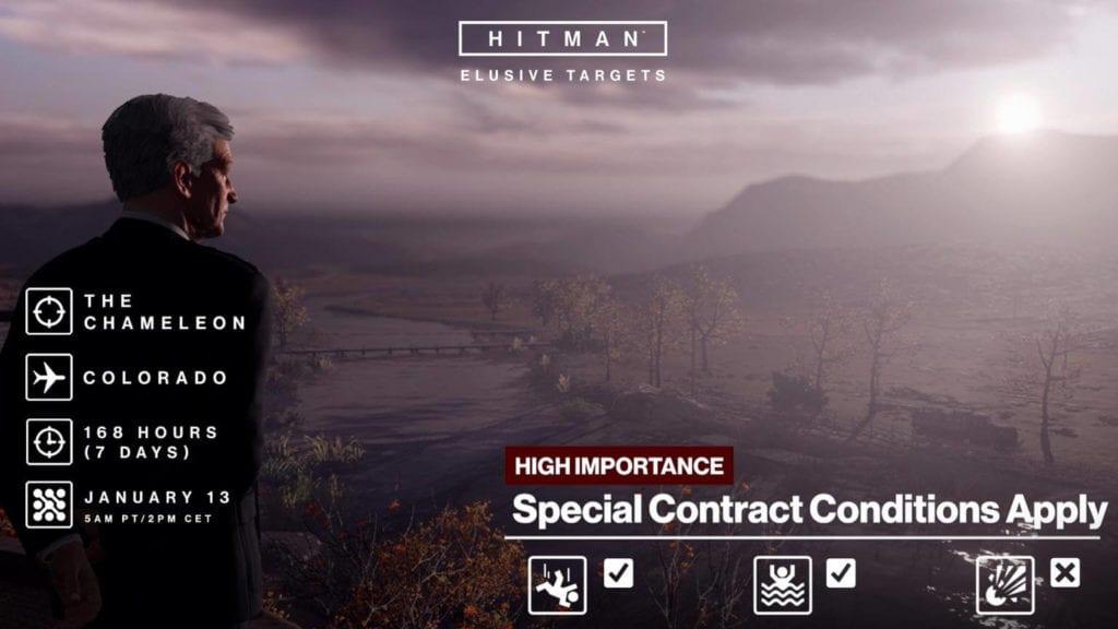 Hitman deploys the elusive Colorado Chameleon on Friday