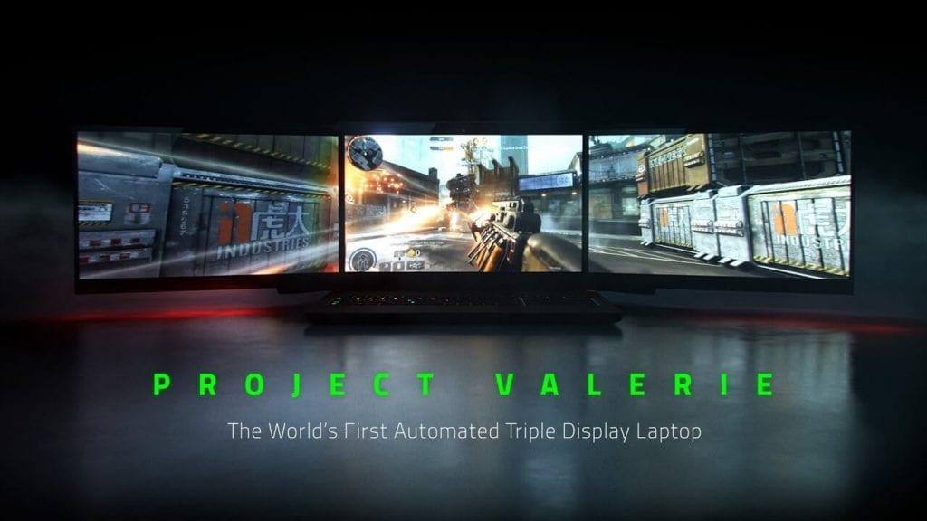 "Razer reveals triple screen laptop ""Project Valerie"""