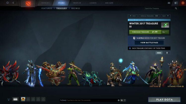 Dota 2 Winter Treasure 3 drops, tests matchmaking changes