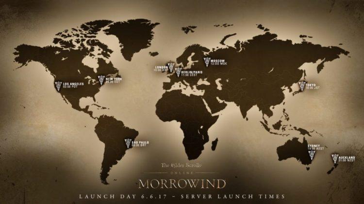 Elder Scrolls Online: Morrowind server launch times announced