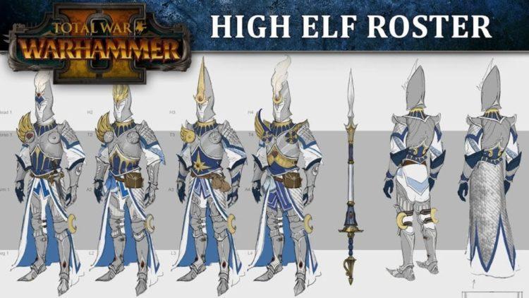 Total War: Warhammer 2 High Elf roster video released