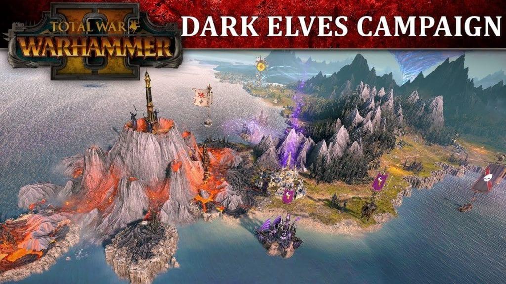 Total War: Warhammer 2 Dark Elf campaign map gameplay
