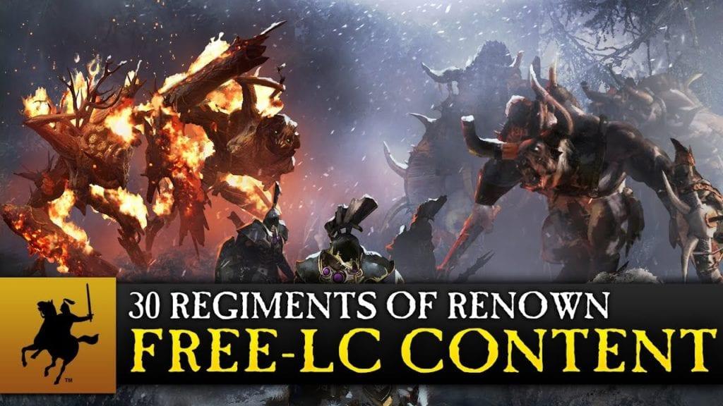 Total War: Warhammer gets 30 free Regiments of Renown next week
