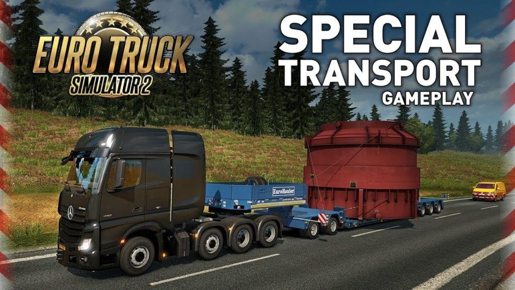 Euro Truck Simulator 2 Special Transport DLC bringing huge loads