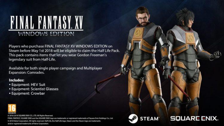 Final Fantasy XV Windows Edition Demo incoming – Gordon Freeman Pack revealed