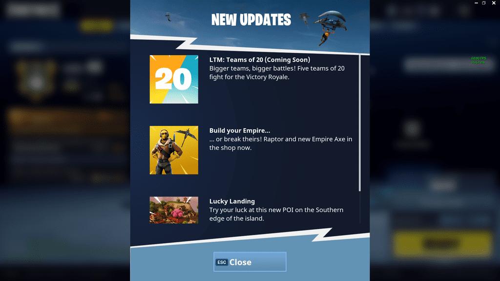 Fortnite's next Battle Royale mode is 20 vs 20  – Updated