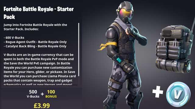 Fortnite Battle Royale Starter Pack now available