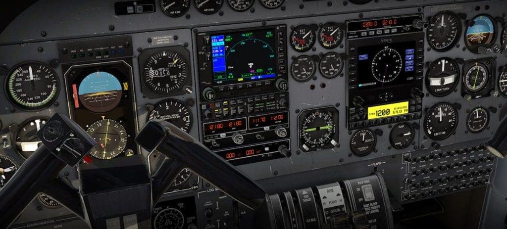 Carenado Xplane 11 690b Turbo Commander Cockpit