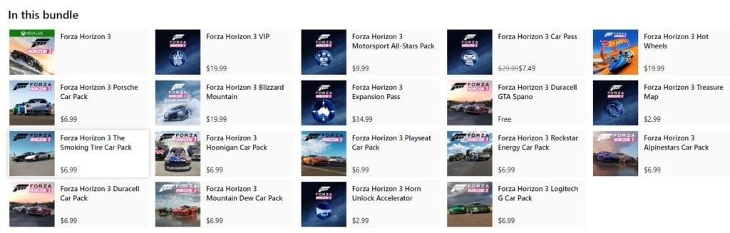 Forza Horizon 3 Platinum Plus Expansion Bundle 2