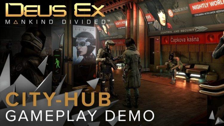 Deus Ex: Mankind Divided – City-hub Gameplay Demo