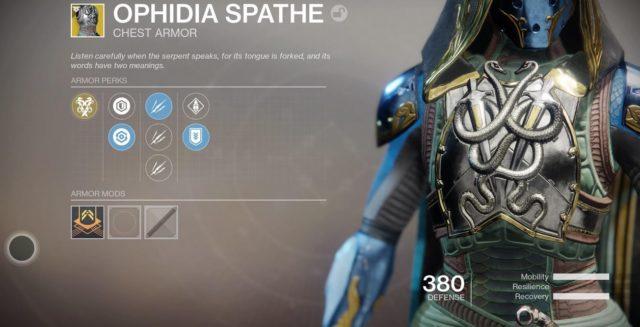 Destiny 2 Forsaken Item Bug Ophidia Spathe