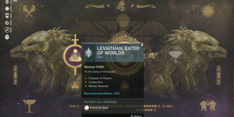 Destiny 2 Leviathan Raid Lair Screen