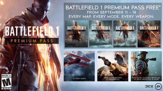 Battlefield 1 Premium Pass Free