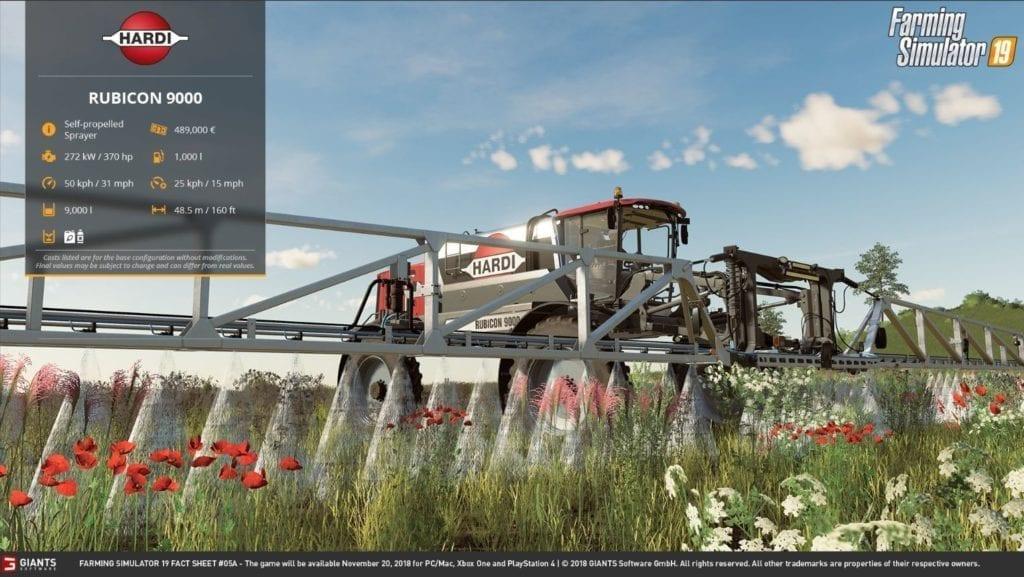 Farming Simulator 19 Spraying A Field